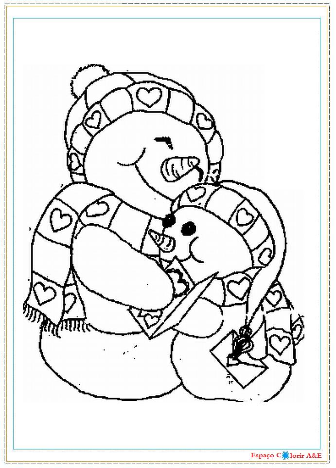 portal ae colorir natal bonecos de neve g18