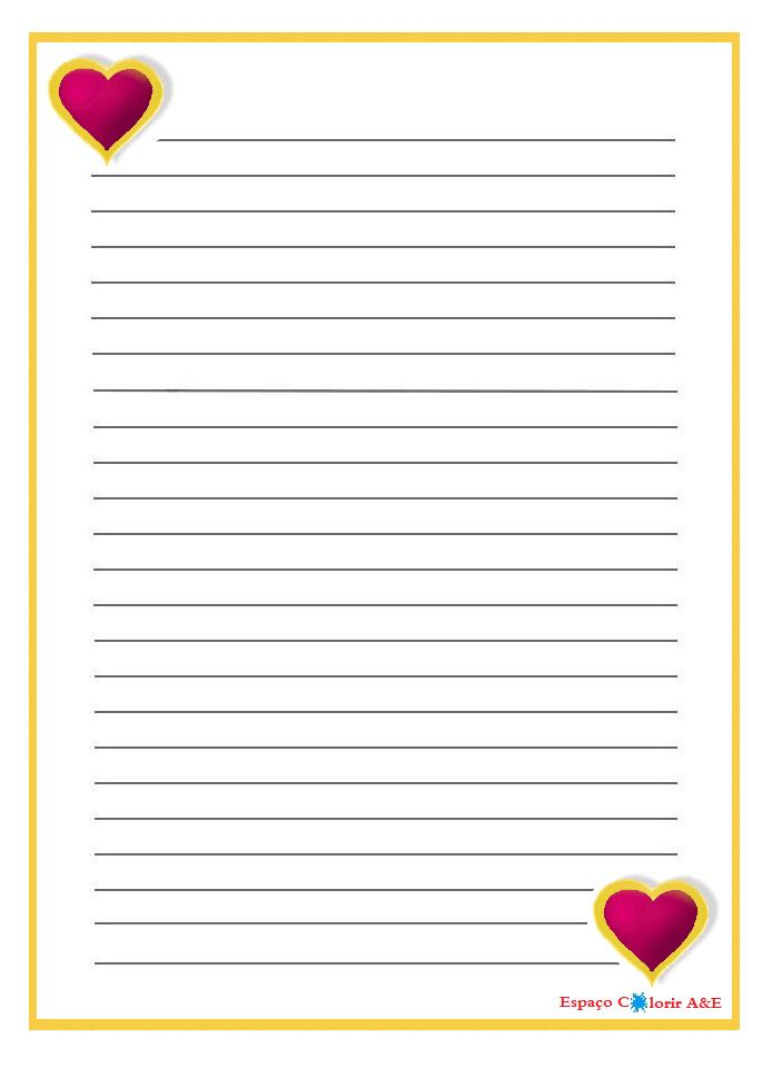 Portal a e papel de carta coracoes 13 for Paginas decoradas