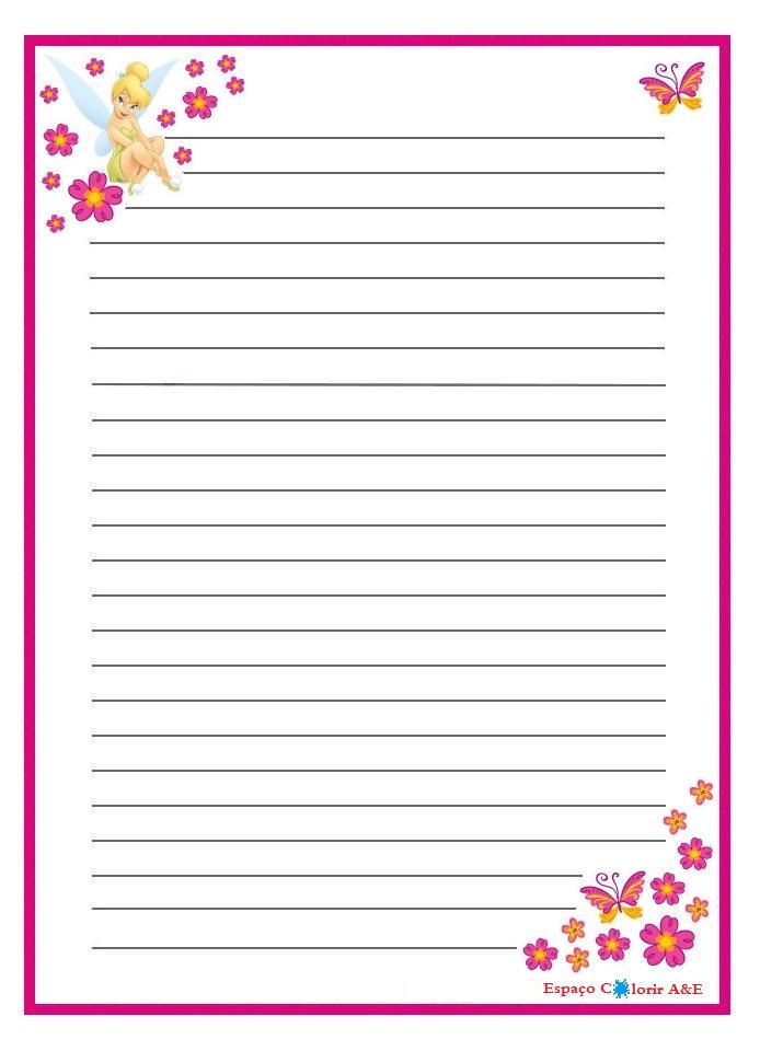 Portal a e papel de carta sininho 10 for Paginas decoradas