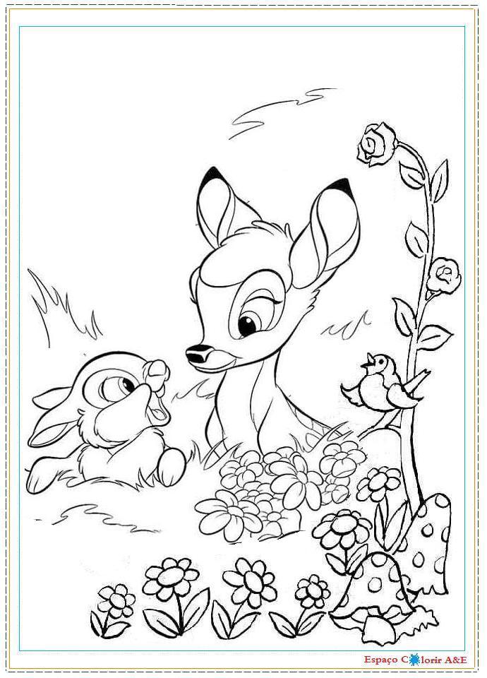 Portal A E Colorir Bambi C12