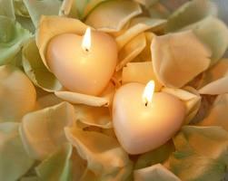 Amarração com velas e corações