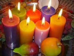 Cores das velas sagradas de deuses e deusas