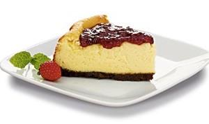 Cheesecake de framboesa com hortelã