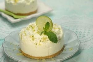 Cheesecake de lima e limão