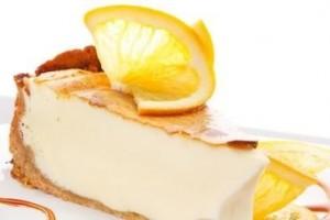 Cheesecake de ricota ao perfume de laranja