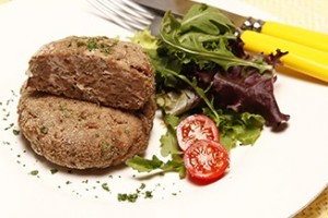 Hambúrguer de borrego com ervas