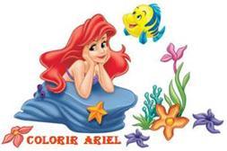 Portal A E Colorir A Pequena Sereia
